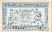 France 50 Centimes Trésorerie aux armées - 1917 Série G - TTB+