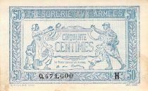 France 50 Centimes Trésorerie aux armées - 1917 Série H - TTB