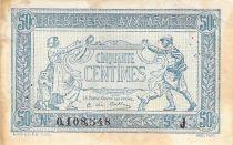 France 50 Centimes Trésorerie aux armées - 1917 Série J - TB+
