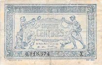 France 50 Centimes Trésorerie aux armées - 1919 Série X - PTB