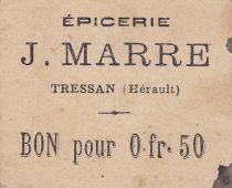 France 50 Centimes Tressan Epicerie J. Marre