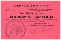 France 50 Centimes Tugny-Et-Pont Commune - 1914