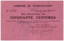France 50 Centimes Tugny-Et-Pont Commune - 1914