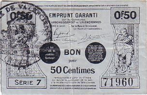 France 50 Centimes Valenciennes