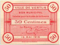 France 50 Centimes Vertus City - 1916
