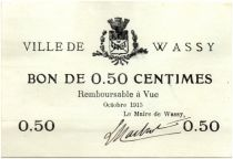 France 50 Centimes Wassy City - 1915