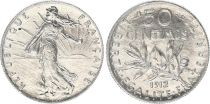 France 50 Cents Semeuse - 1912 - Silver