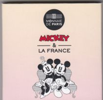 France 50 Euros Mickey - 2018 - Silver - Mickey and Minnie in Montmartre