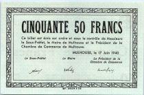 France 50 F , Mulhouse Chambre de Commerce, sans série