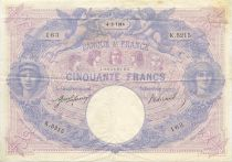 France 50 F Blue and Pink