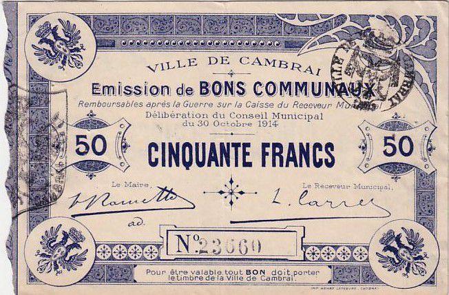 France 50 F Cambrai
