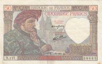 France 50 Francs - 11-09-1941 - Serial Y.117
