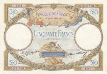 France 50 Francs - 29-12-1932 Serial Q.11898 - XF - P. 80