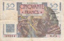 France 50 Francs - Le Verrier 01-02-1951 - Serial H.173 - F