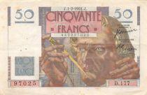 France 50 Francs - Le Verrier 01-02-1951 - Série D.177 - TTB