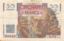 France 50 Francs - Le Verrier 01-02-1951 - Série K.174 - TB
