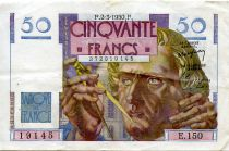 France 50 Francs - Le Verrier 02-03-1950 - Serial E.150 - VF