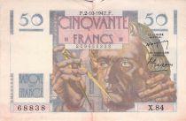 France 50 Francs - Le Verrier 02-10-1947 - Serial X.84 - VF