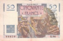 France 50 Francs - Le Verrier 02-10-1947 - Série X.84 - TTB