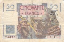 France 50 Francs - Le Verrier 03-11-1949 - Serial F.141 - F+