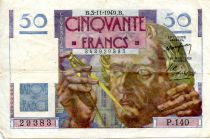 France 50 Francs - Le Verrier 03-11-1949 - Serial P.140 - VF