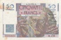 France 50 Francs - Le Verrier 07-06-1951 - Série R.178