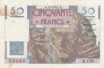 France 50 Francs - Le Verrier 07-06-1951 - Serial R.178