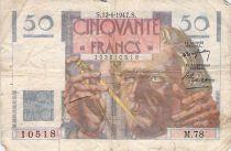 France 50 Francs - Le Verrier 12-06-1947 - Serial M.78 - G+