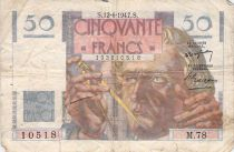France 50 Francs - Le Verrier 12-06-1947 - Série M.78 - B+