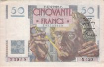 France 50 Francs - Le Verrier 17-02-1949 - Serial N.120 - VF+