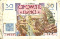 France 50 Francs - Le Verrier 17-02-1949 - Serial P.115 - F
