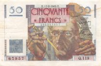 France 50 Francs - Le Verrier 17-02-1949 - Serial Q.119 - VF