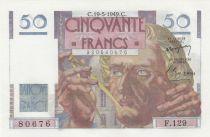 France 50 Francs - Le Verrier 19-05-1949 - Serial F.129 - UNC