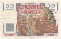 France 50 Francs - Le Verrier 24-08-1950 - Serial P.164 - VF