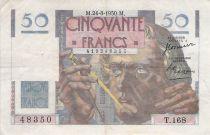 France 50 Francs - Le Verrier 24-08-1950 - Serial T.168 - VF