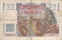 France 50 Francs - Le Verrier 28-03-1946 - Serial G.5 - G+