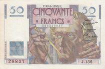France 50 Francs - Le Verrier 29-06-1950 - Serial J.156