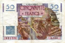 France 50 Francs - Le Verrier 29-06-1950 - Serial L.153 - VF