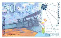 France 50 Francs, Saint-Exupéry - 1992 - Série A. 000 - Signature de Roger Pfund