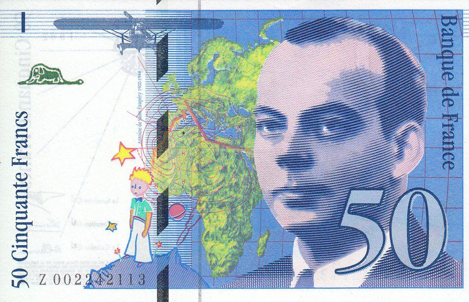 France 50 Francs, Saint-Exupéry - 1992 - Série Z. 002