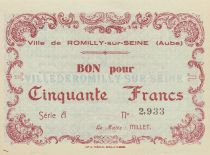 France 50 Francs 1940, City de Romilly-sur-Seine