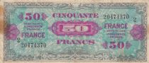 France 50 Francs Allied Military Currency - 1945 Serial 2 - F