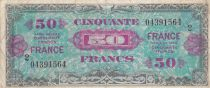 France 50 Francs Allied Military Currency - 1945 Serial 2 - VF