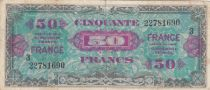 France 50 Francs Allied Military Currency - 1945 Serial 3 - F+
