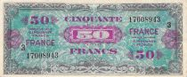 France 50 Francs Allied Military Currency - 1945 Serial 3 - VF