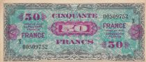 France 50 Francs Allied Military Currency - 1945 Serial X 00509752