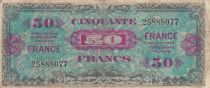 France 50 Francs Allied Military Currency - 1945 without Serial - F