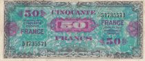 France 50 Francs Allied Military Currency - 1945 without Serial - VF