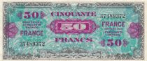 France 50 Francs Allied Military Currency - Flag - 1944