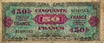 France 50 Francs American printing - 1944 - without serial - VG to F